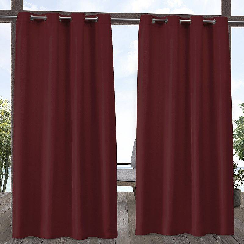 Exclusive Home 2-pack Indoor/Outdoor Solid Cabana Window Curtains, Red, 54X96