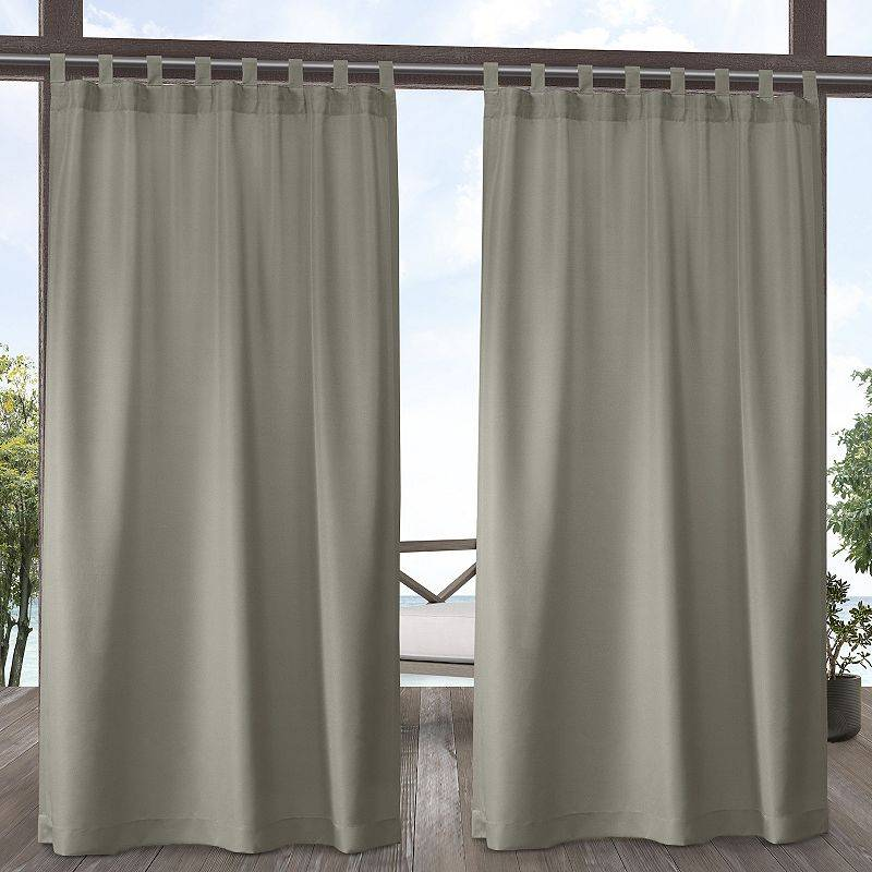 Exclusive Home 2-pack Indoor/Outdoor Solid Cabana Window Curtains, White, 54X84