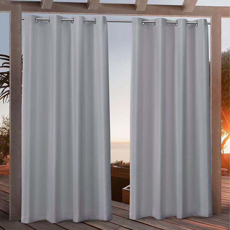 Nicole Miller NY Nicole Miller 2-pack New York Canvas Indoor/Outdoor Window Curtains, Grey, 54X108