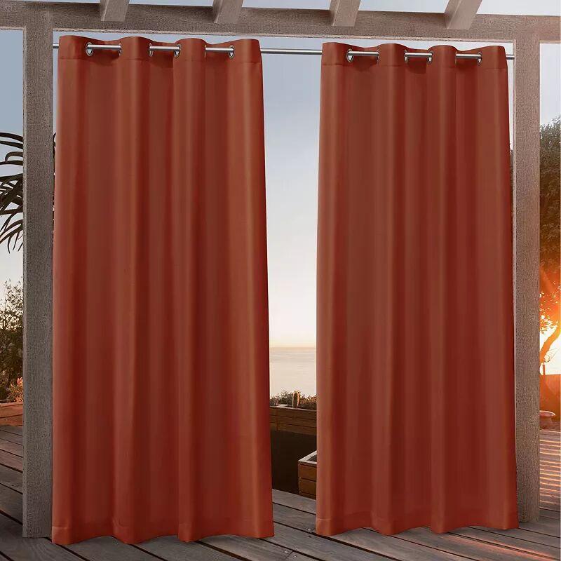 Nicole Miller NY Nicole Miller 2-pack New York Canvas Indoor/Outdoor Window Curtains, Orange, 54X84