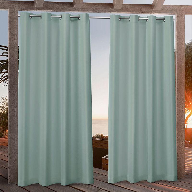 Nicole Miller NY Nicole Miller 2-pack New York Canvas Indoor/Outdoor Window Curtains, Green, 54X84