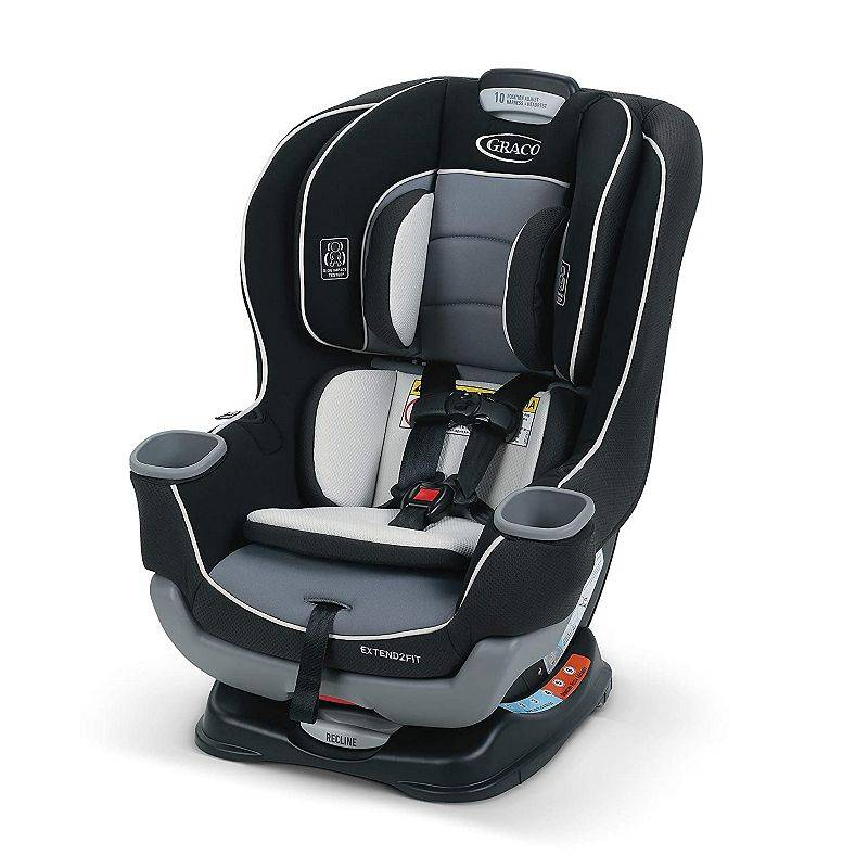 Graco Extend2Fit Convertible Car Seat, Grey
