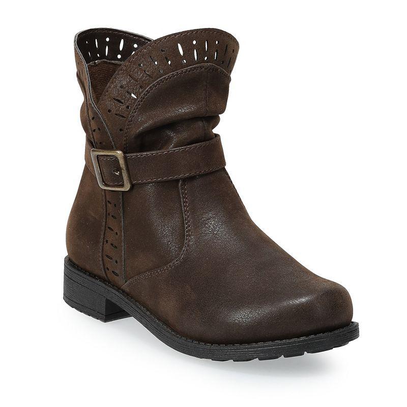 Rachel Shoes Freya Mid Girls' Slouch Boots, Girl's, Size: 2, Brown