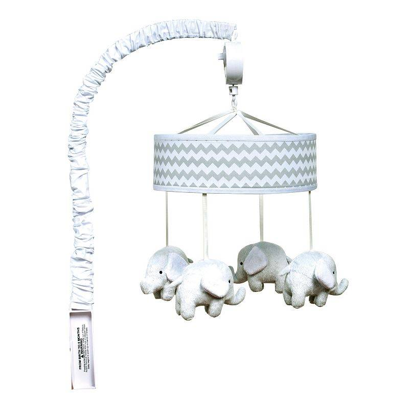 Trend Lab Chevron Elephant Musical Mobile, Grey