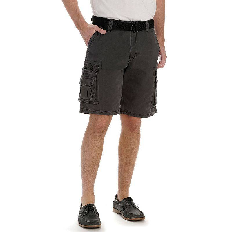 Lee Men's Lee Wyoming Belted Cargo Shorts, Size: 29, Grey
