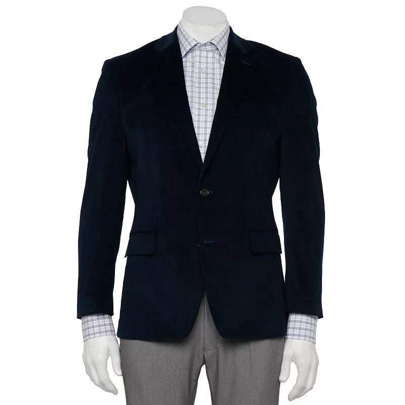 Men's Chaps Classic-Fit Corduroy Stretch Sport Coat, Size: 52 LONG, Blue