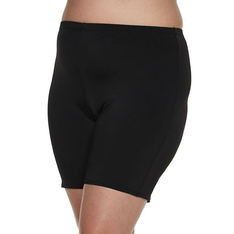 Plus Size A Shore Fit! Swim & Bike Shorts, Women's, Size: 22 W, Black