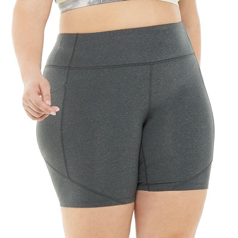 Plus Size Tek Gear Shapewear High-Waisted Bike Shorts, Women's, Size: 3XL, Dark Grey