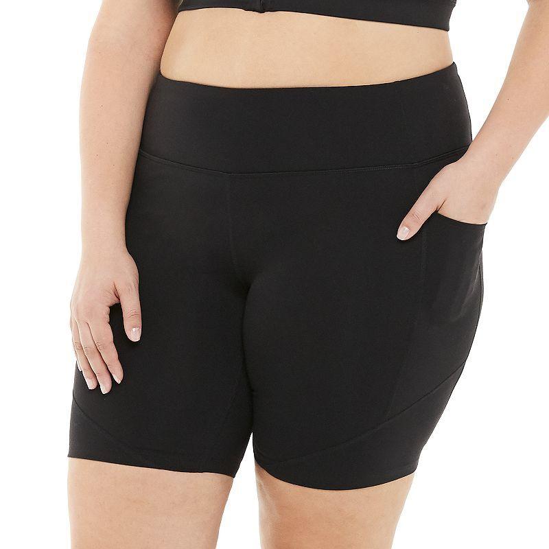Plus Size Tek Gear Shapewear High-Waisted Bike Shorts, Women's, Size: 2XL, Black