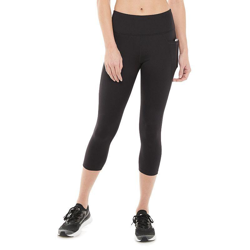Women's FILA SPORT Tru-Sculpt High-Waisted Capri Leggings, Size: XS, Black