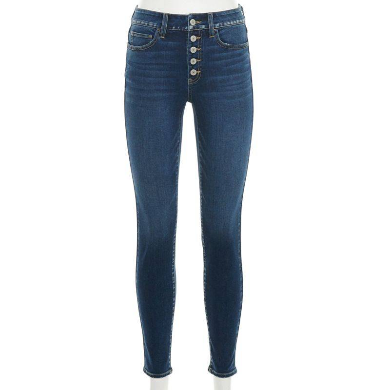 Juniors' SO High Rise Skinny Jeans, Girl's, Size: 11, Blue
