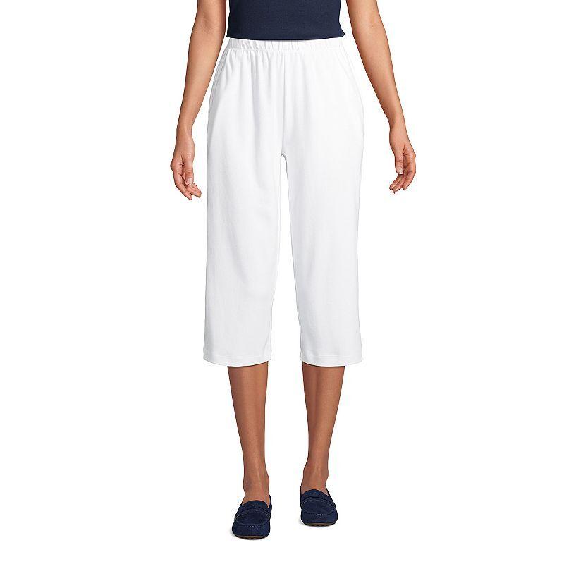 Petite Lands' End Sport High Waist Pull-On Capri Pants, Women's, Size: XL Petite, White