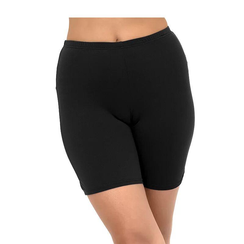 Women's A Shore Fit Solid Swim Bike Short, Size: 10, Black