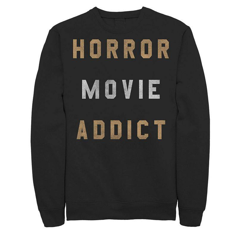 Licensed Character Mens Horror Movies Lover Halloween Sweatshirt, Men's, Size: Small, Black