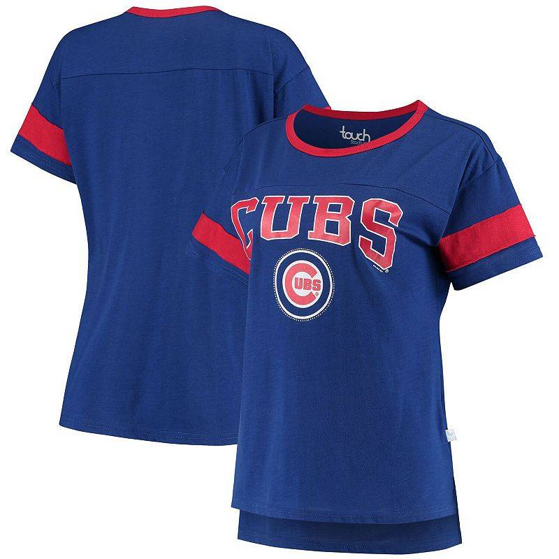 Unbranded Women's G-III Sports by Carl Banks Royal Chicago Cubs Wild Card Boat Neck T-Shirt, Size: XL, Blue