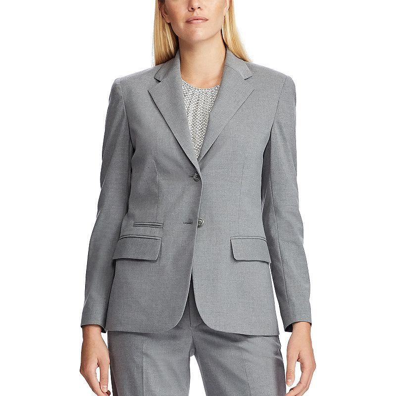 Women's Chaps Angela Grey Blazer Jacket, Size: 8