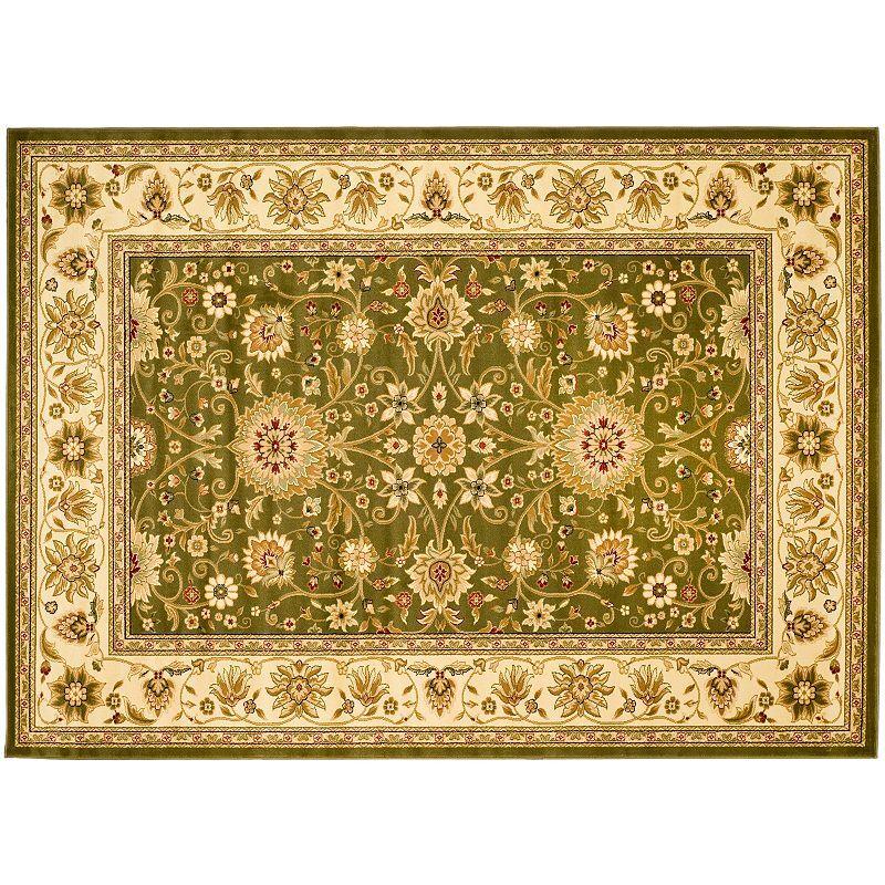 Safavieh Lyndhurst Framed Floral Print Rug, Green, 2X16 Ft