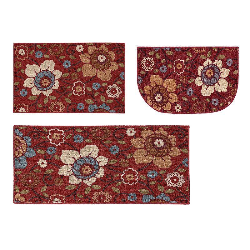 Mohawk Home By the Gate Floral Kitchen Rug, Red, 30X48