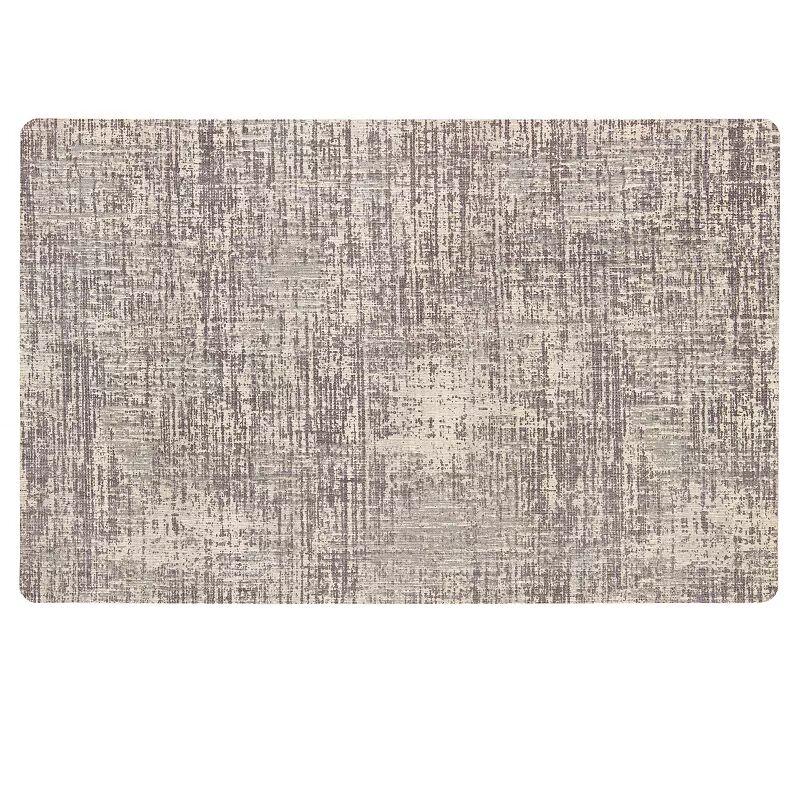 Mohawk Home Neoprene Textured Striations Kitchen Mat, Grey, 23 X 60