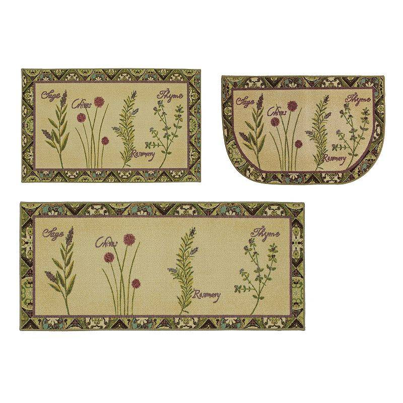 Mohawk Home Herb Tiles Kitchen Rug, Green, 30X48