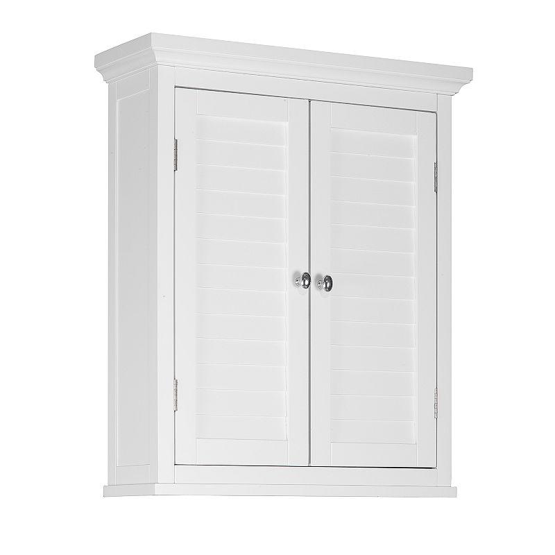 Elegant Home Fashions Saddie Wall Cabinet, White