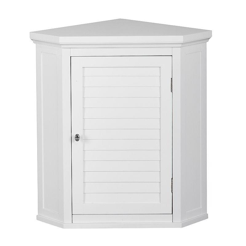 Elegant Home Fashions Saddie Corner Wall Cabinet, White