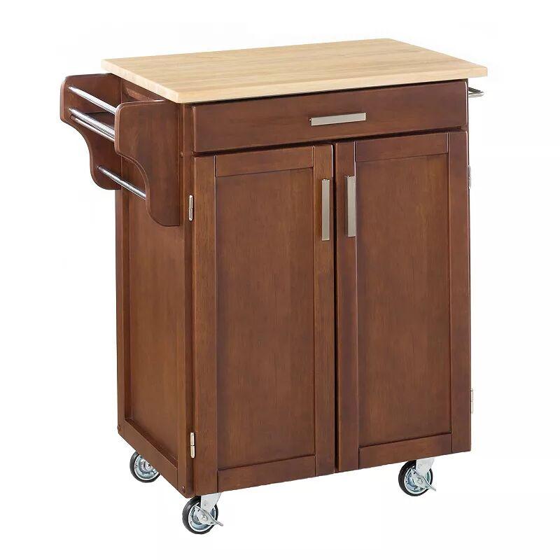 Wood-Top Cuisine Kitchen Cart, Brown