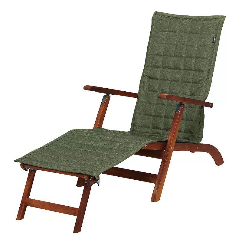 Classic Accessories Montlake FadeSafe Indoor / Outdoor Patio Chaise Slipcover, Green