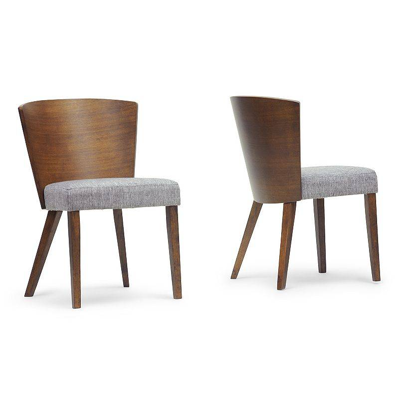 Baxton Studio Sparrow 2-Piece Wood Modern Dining Chair Set, Brown