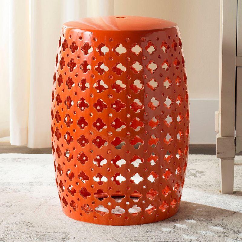 Safavieh Lacey Indoor / Outdoor Garden Stool, Orange