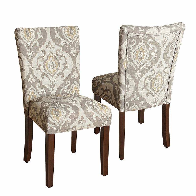 HomePop Suri Ikat Medallion Dining Chair 2-piece Set, Natural