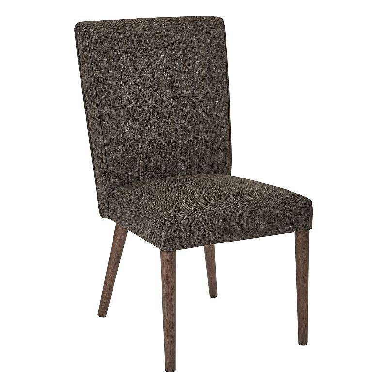 Ave Six Caroline Upholstered Dining Chair, Brown