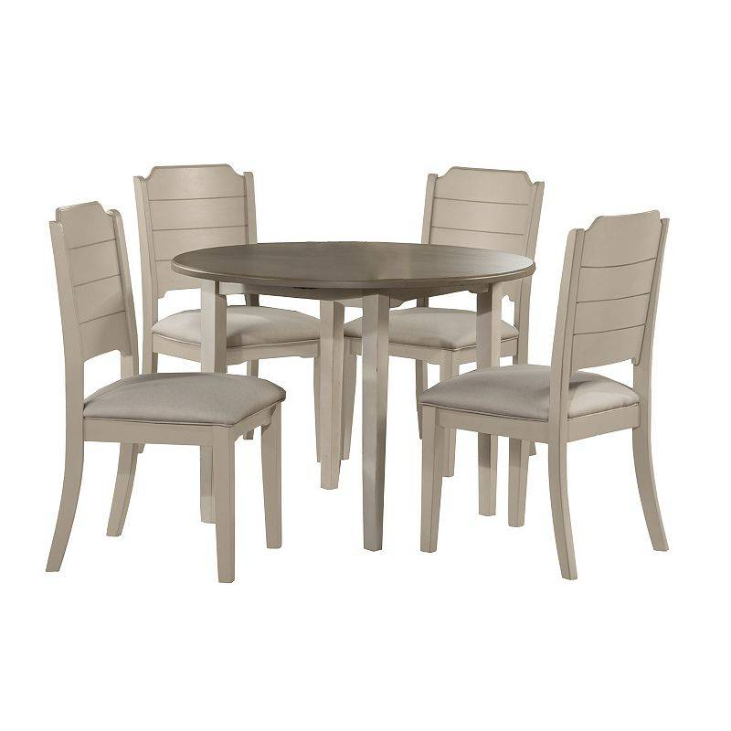Clarion Hillsdale Furniture Clarion 5-Piece Drop Leaf Dining Set, White