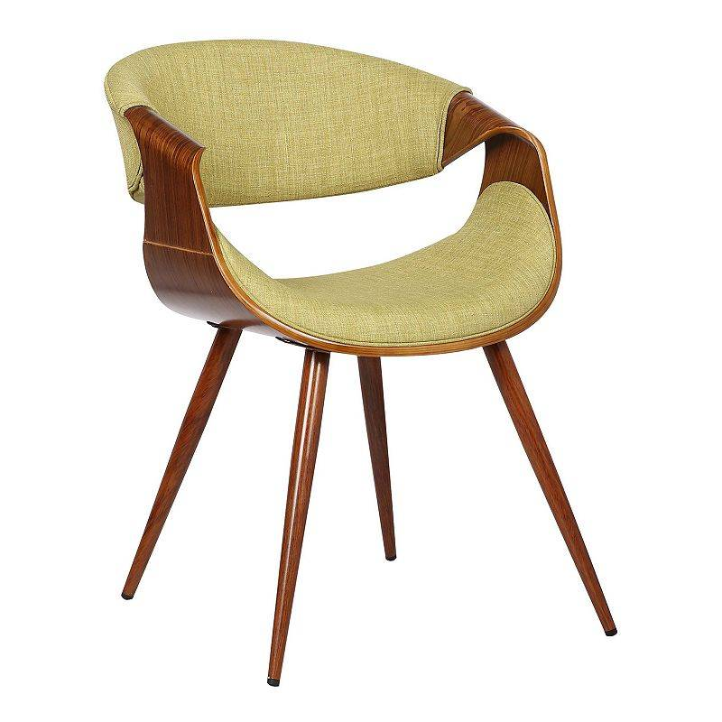 Armen Living Butterfly Mid-Century Dining Chair, Green