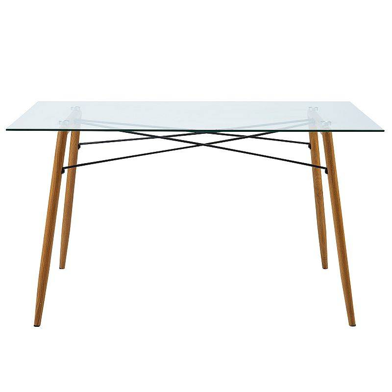 Versanora Minimalista Glass Dining Table