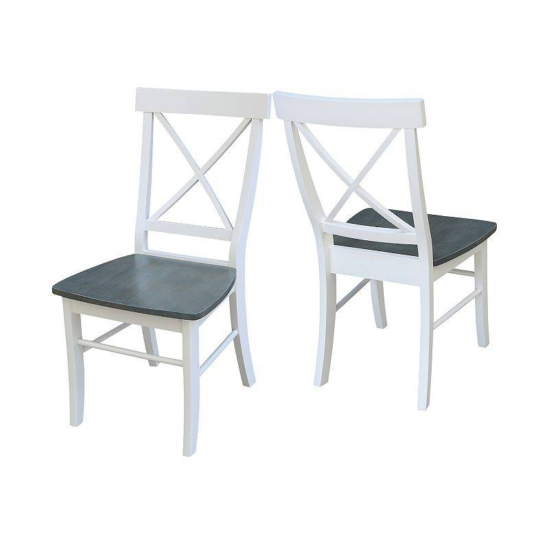 International Concepts X-Back Dining Chair 2-piece Set, White