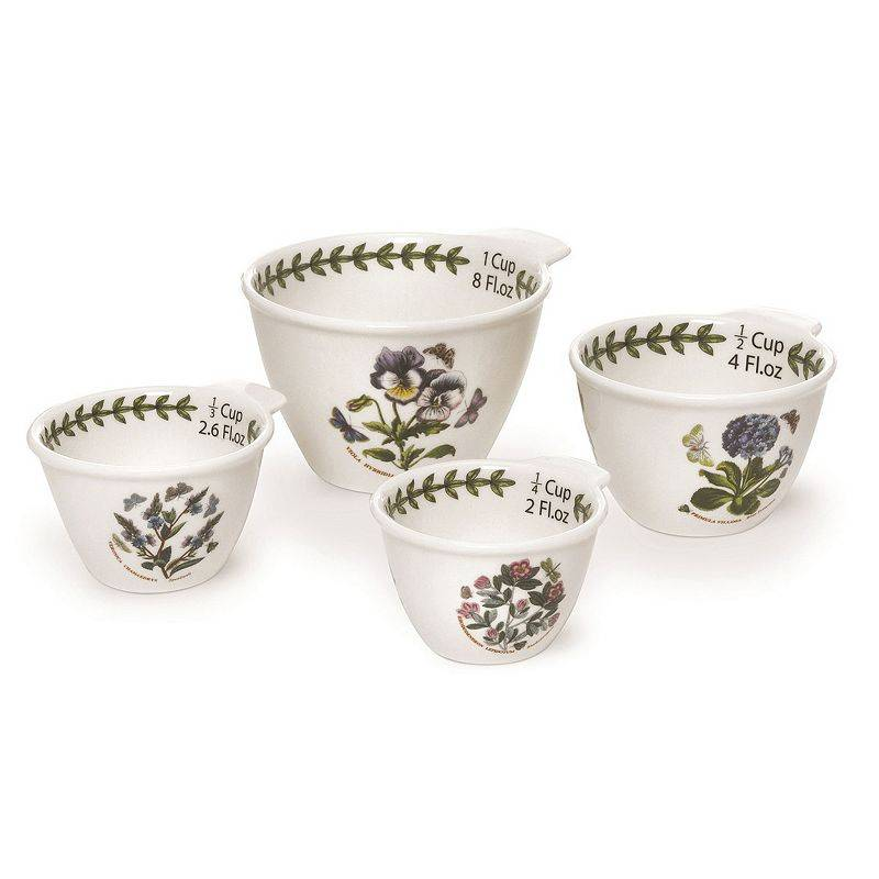 Portmeirion Botanic Garden 4-pc. Measuring Cup Set, White