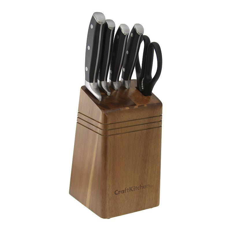 Craft Kitchen 6 pc. TripleRivet Knife Block Set