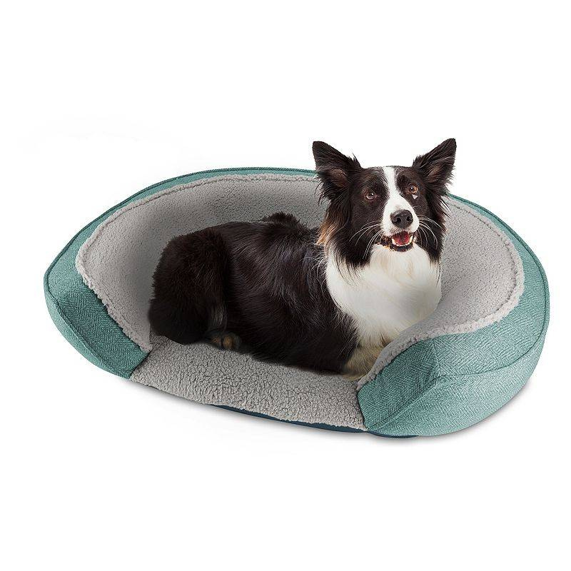 Canine Creations Arlee Home Oval Cuddler Dog Pet Bed, Green, X Large