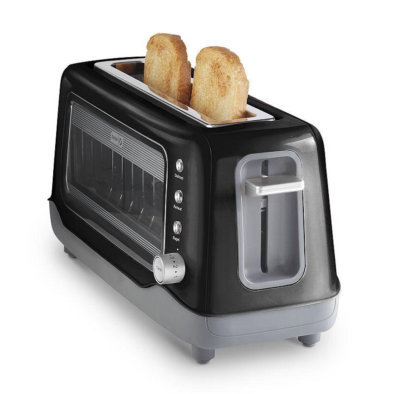 Dash Clear View 2-Slice Toaster, Black, 2 SLICE