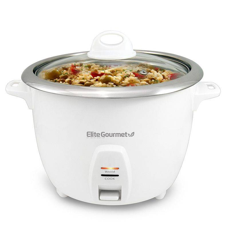 Elite Platinum 10-Cup Rice Cooker, White, 10 CUP