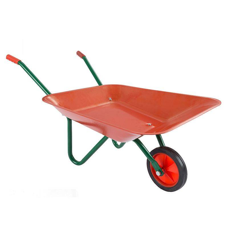 Hey! Play! Kids Mini Wheelbarrow Garden Tool, Red