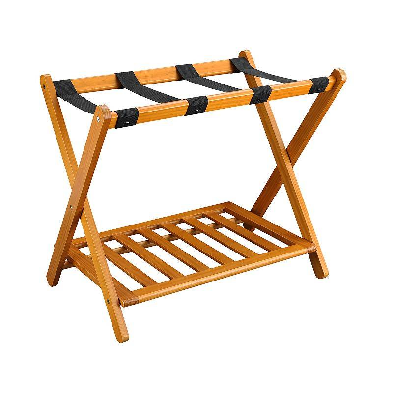 Casual Home Luggage Rack, Brown