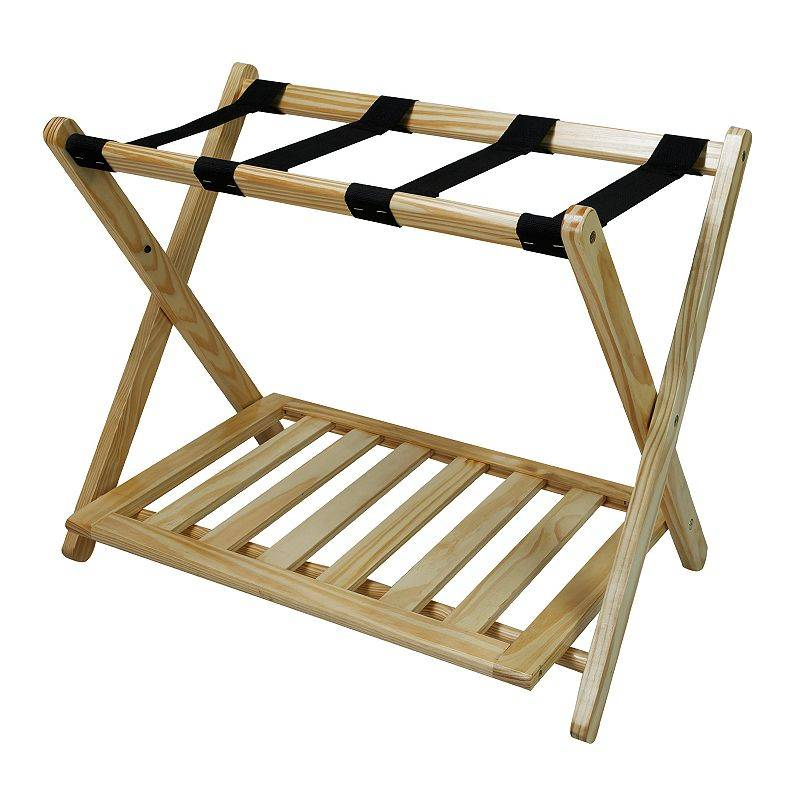Casual Home Luggage Rack, Natural