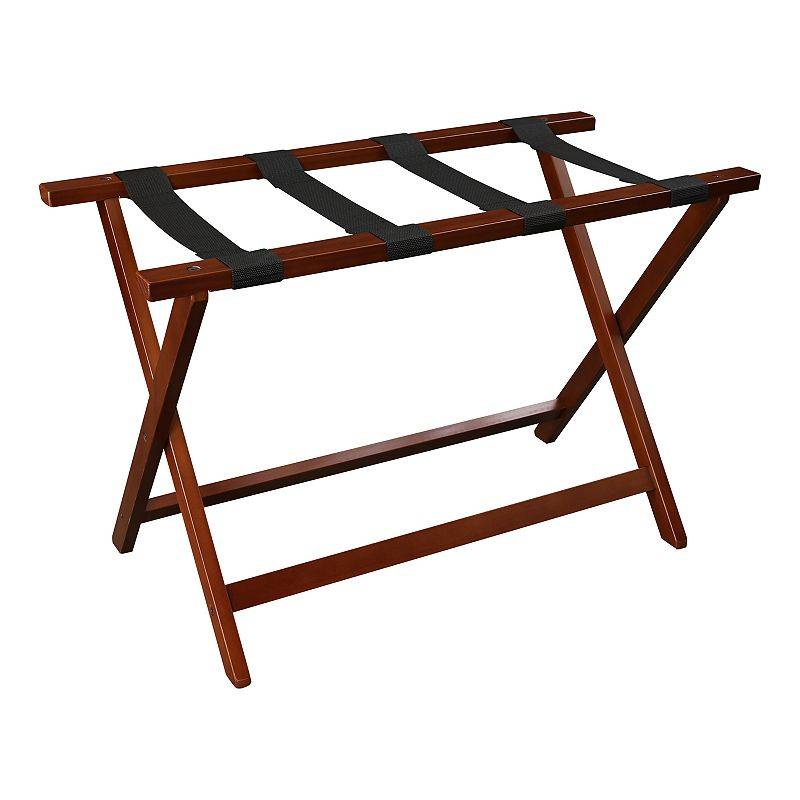 """Casual Home Heavy Duty 30"""" Extra Wide Luggage Rack, Brown"""