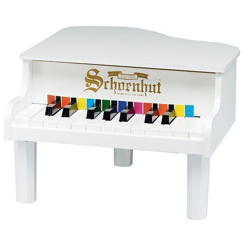 Schoenhut 18-Key Mini Grand Toy Piano, White