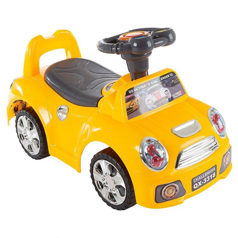 Lil' Rider Ride-On Walking Car Toy, Yellow