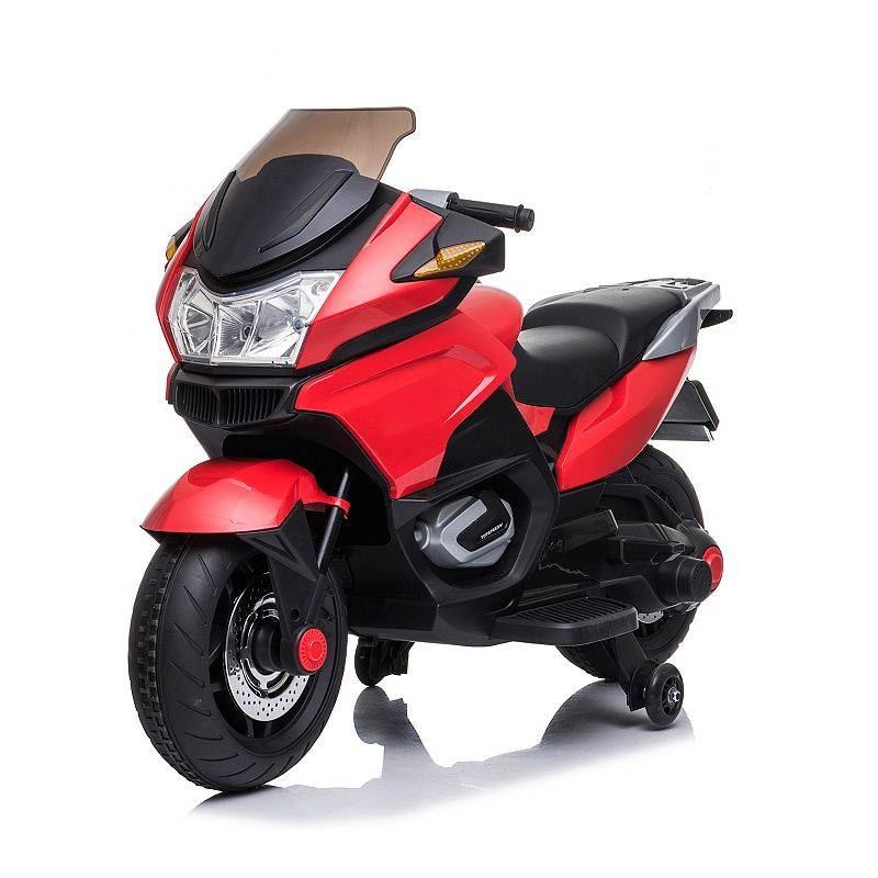 Blazin Wheels 12-Volt Motorcycle Battery-Operated Ride-On, Red