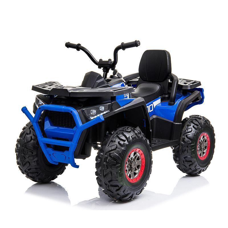 Blazin Wheels 12-Volt Super Quad Ride-On, Blue