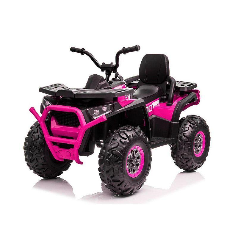 Blazin Wheels 12-Volt Super Quad Ride-On, Pink